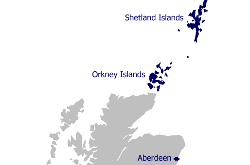 Ferry From Orkney To Shetland Islands